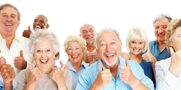 Group of senior citizens smiling