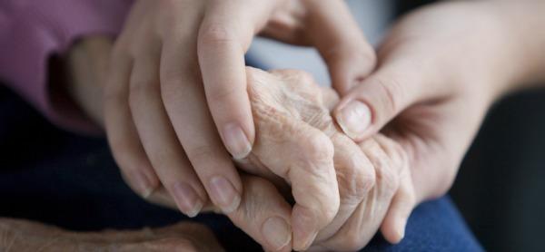 Senior Citizens Hands together