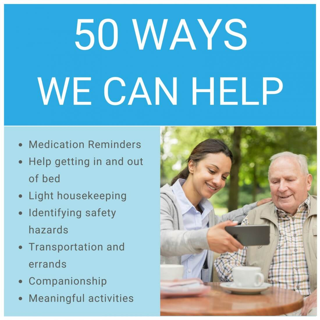 50 ways comforcare can help your loved one